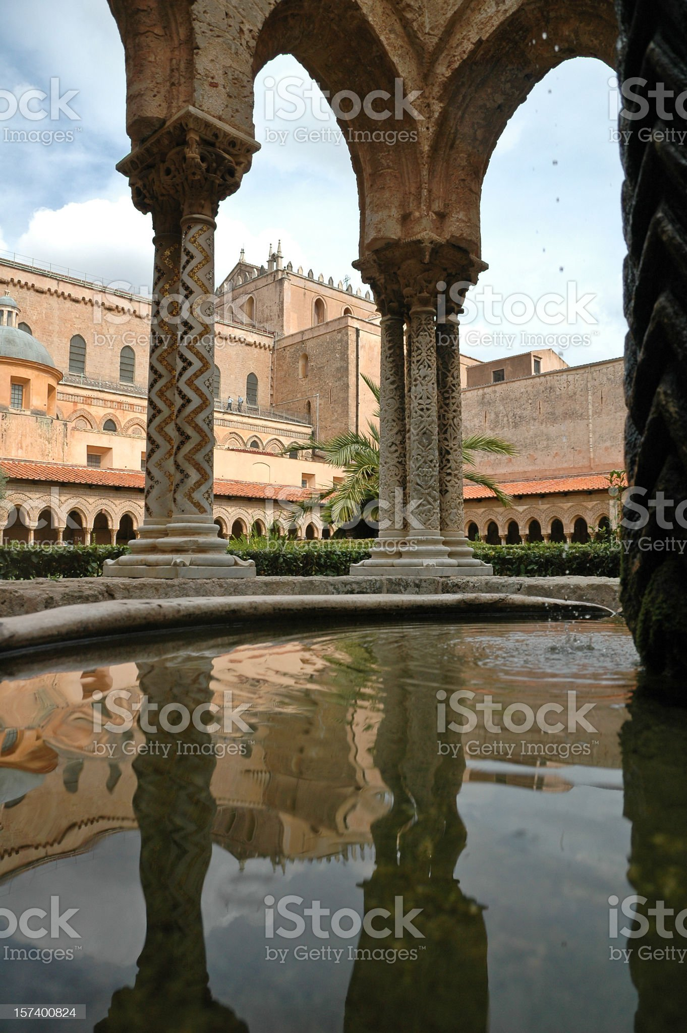 Monreale's Cloister - Particular royalty-free stock photo