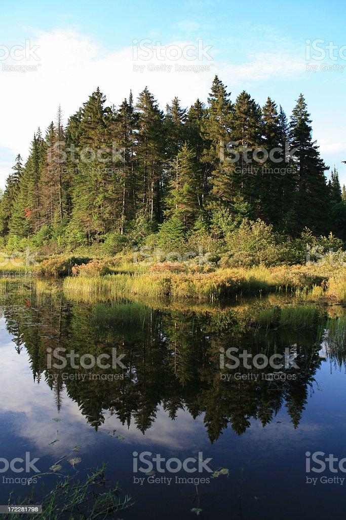 Monroe lake, Parc du Mont Tremblant, Quebec, Canada stock photo