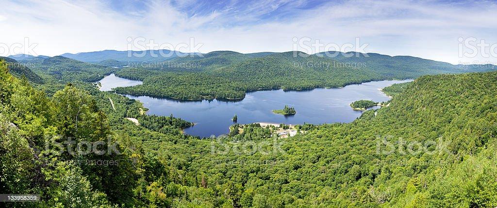 Monroe Lake, Quebec stock photo
