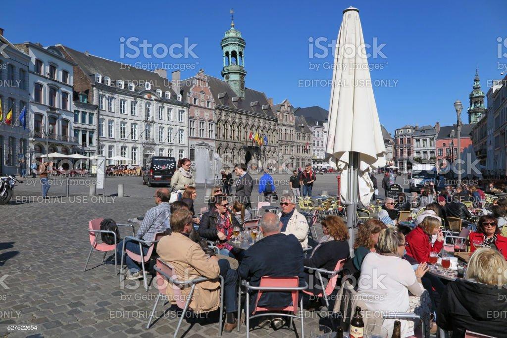 Mons, Belgium - October 1, 2015 stock photo
