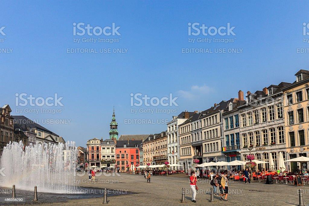 Mons - Grand Place, Belgium stock photo