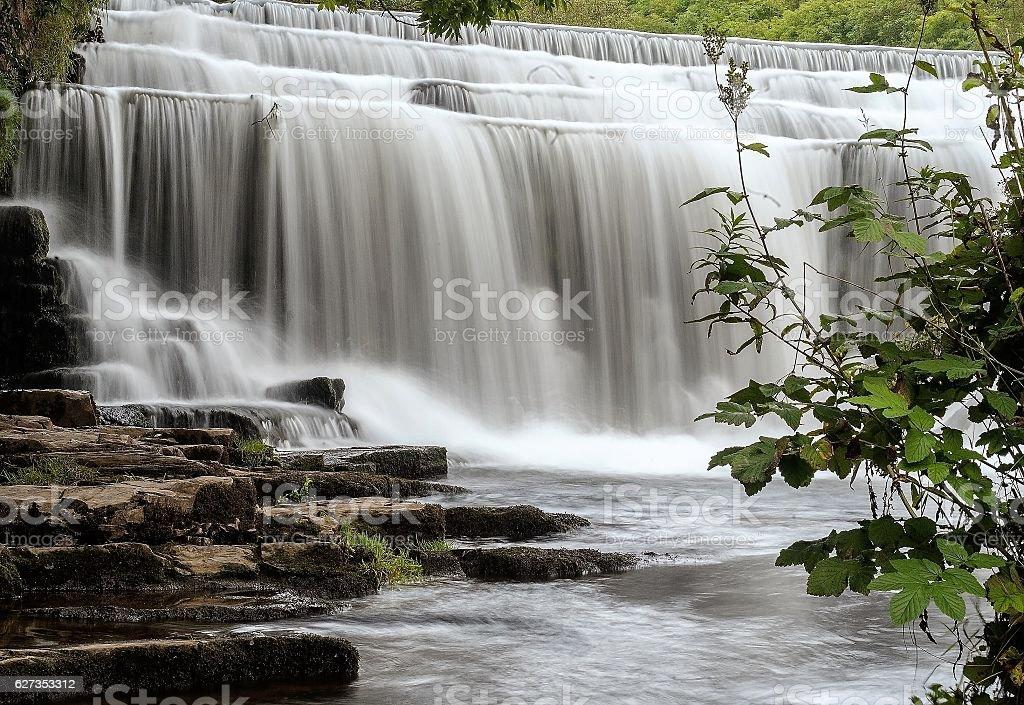 Monsal Waterfalls stock photo