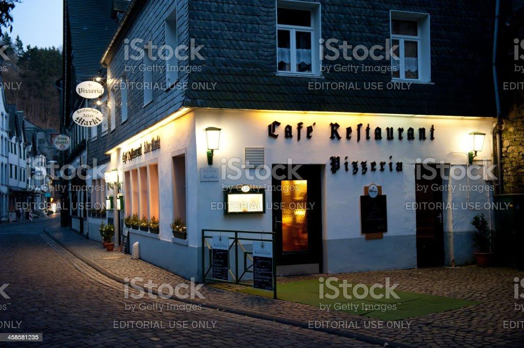 Monschau Germany Cafe royalty-free stock photo