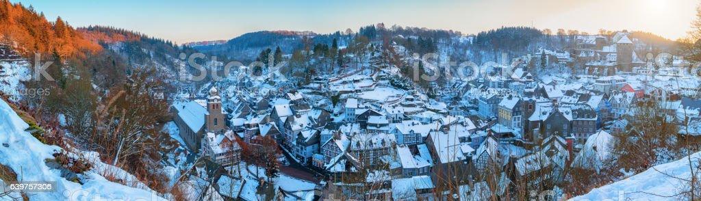 Monschau panorama stock photo