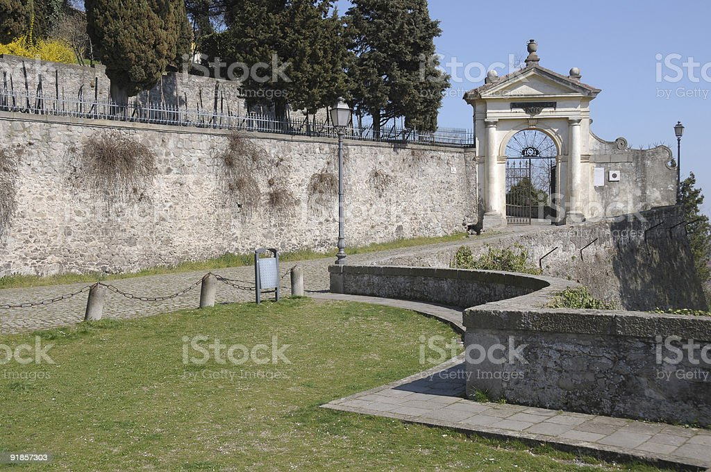 Monselice: Seven churches sanctuary entrance royalty-free stock photo