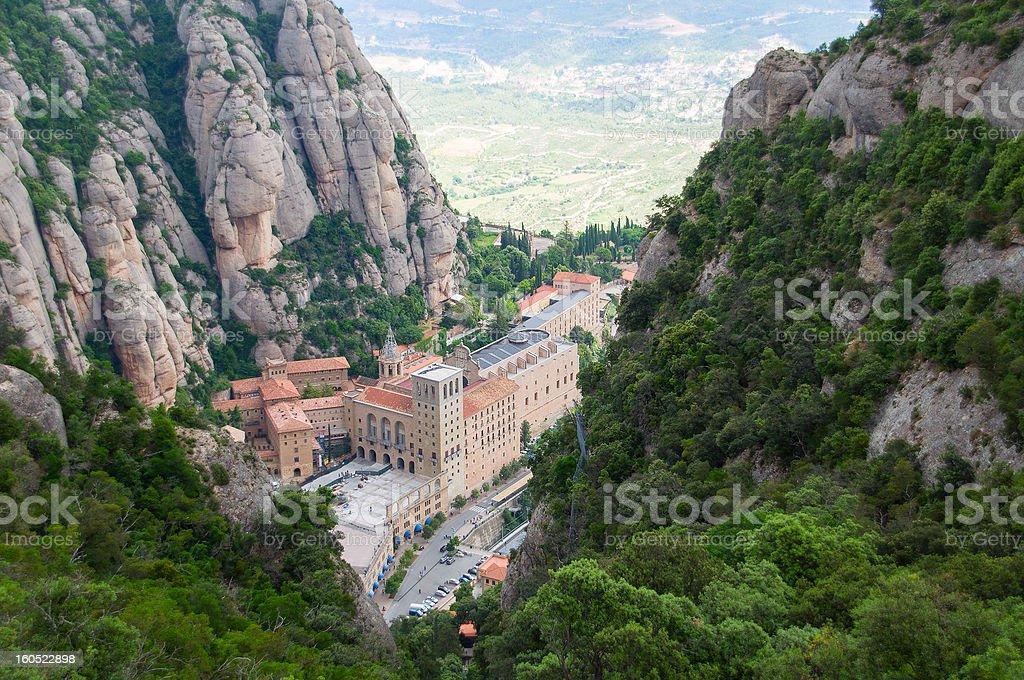 Monserrat monastery. Catalonia, Spain royalty-free stock photo