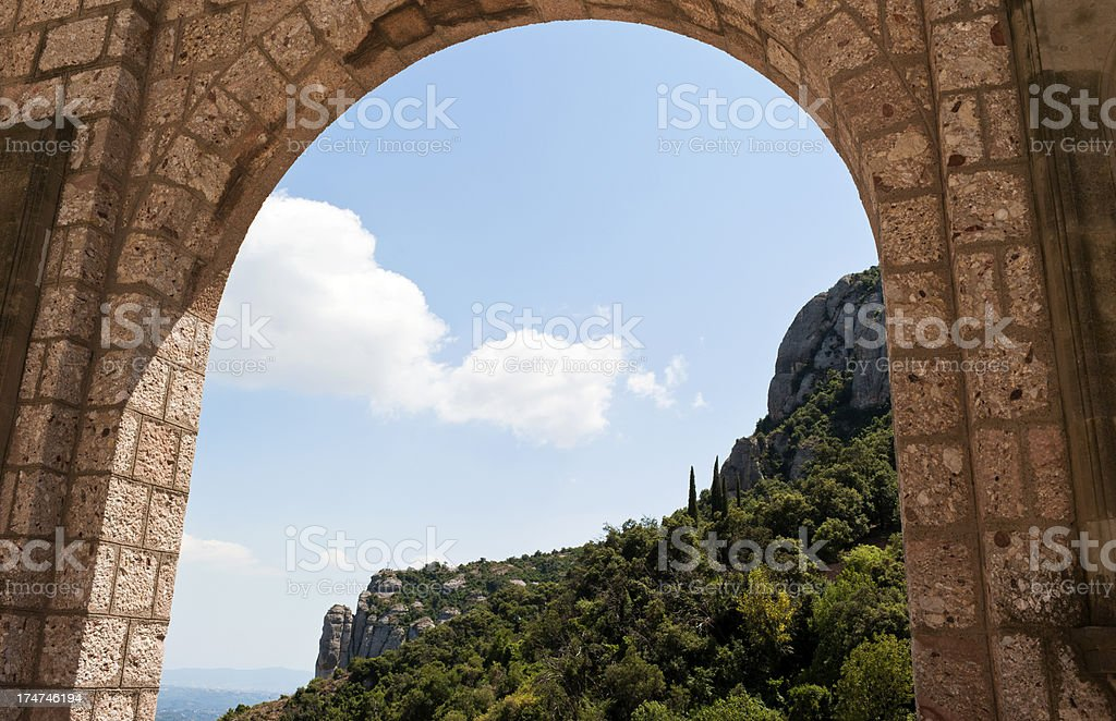 Monserrat monastery royalty-free stock photo