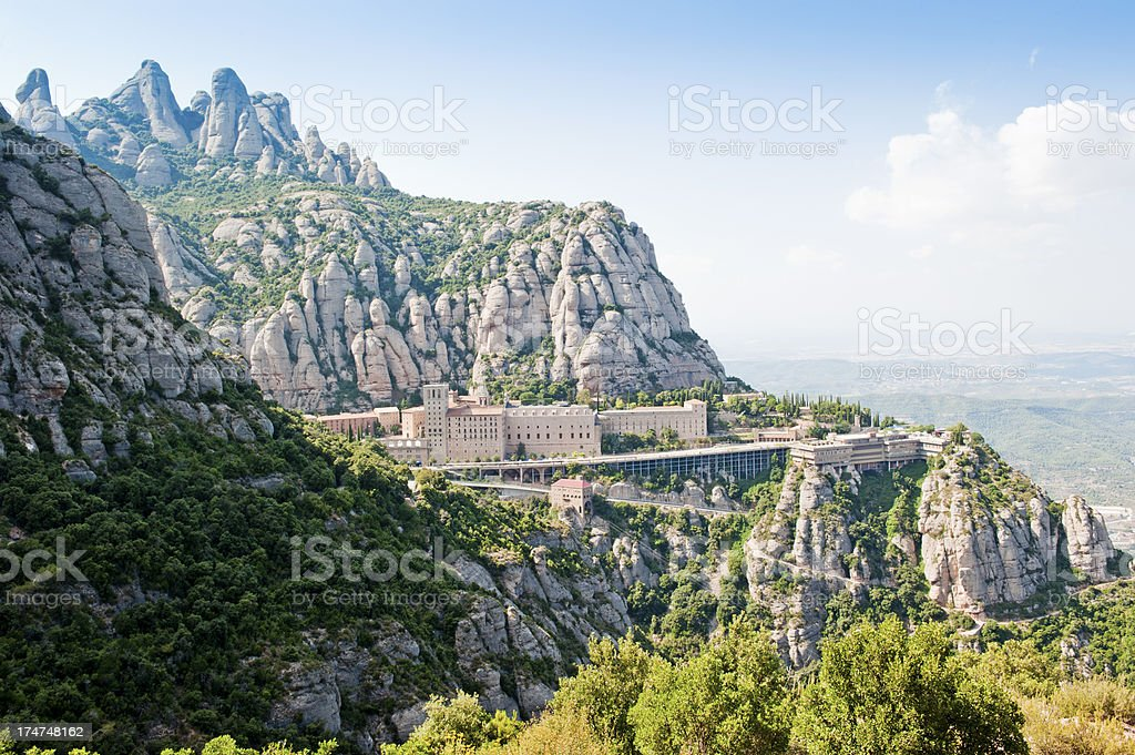 Monserrat monastery stock photo