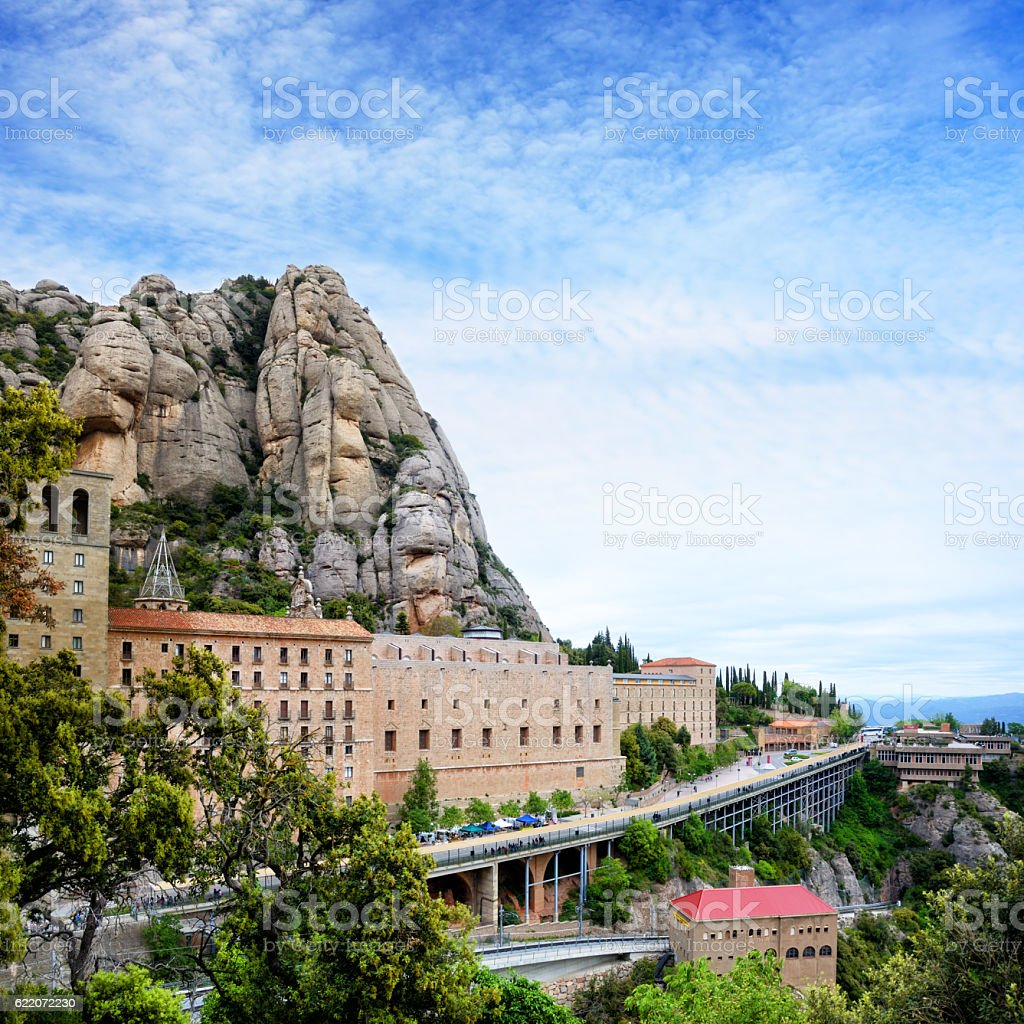 Monserrat monastery stock photo