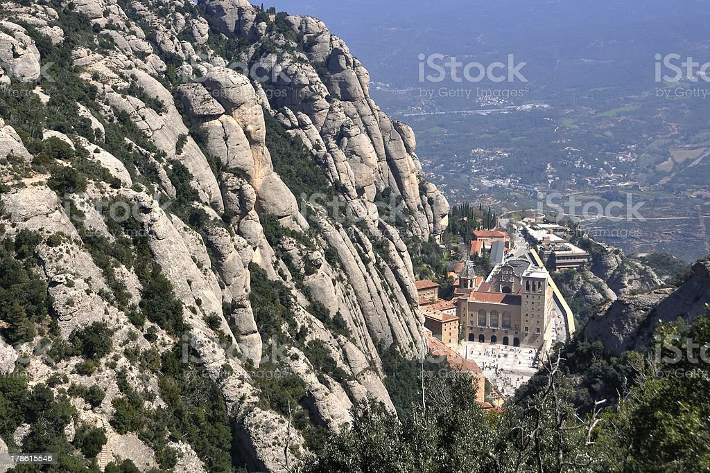 Monserrat Monastery, Spain stock photo
