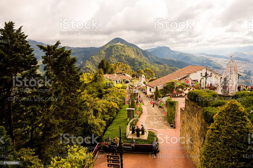 Monserrate Church in Bogota, Colombia stock photo