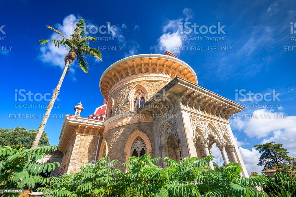 Monserrte Palace in Sintra, Portugal stock photo