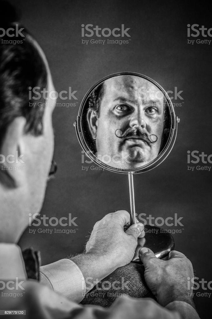 Monsieur Moustache stock photo