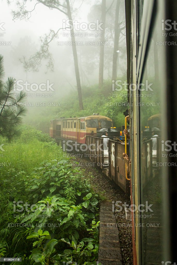 Monsoon affair with the queen of hills Shimla stock photo