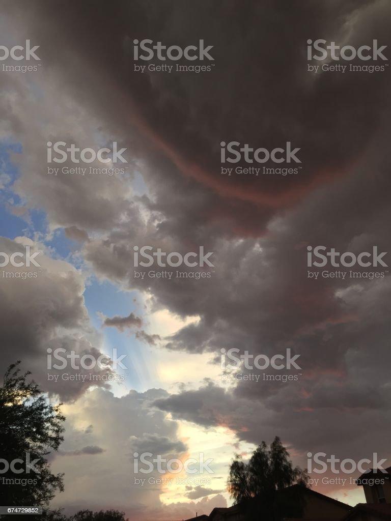 Monsoon Cloud stock photo