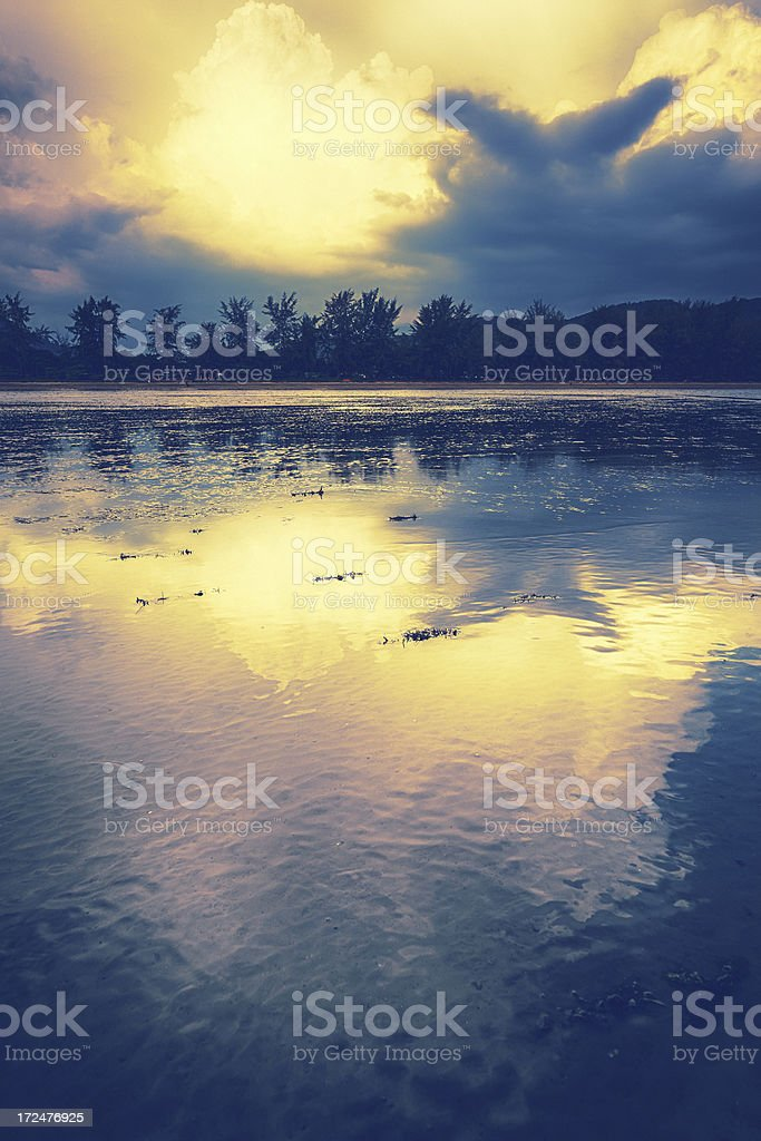 Monsoon, Dramatic Sky Over The Beach royalty-free stock photo