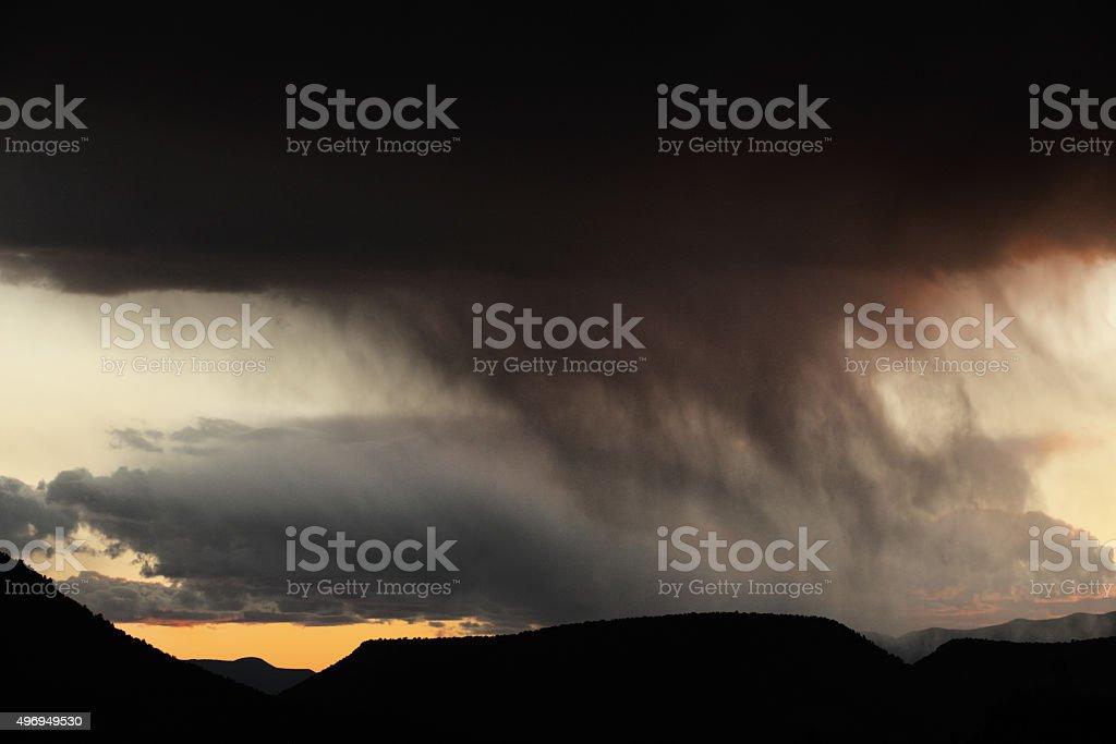 Monsoon Hailstorm Rain Cloud Thunderstorm stock photo