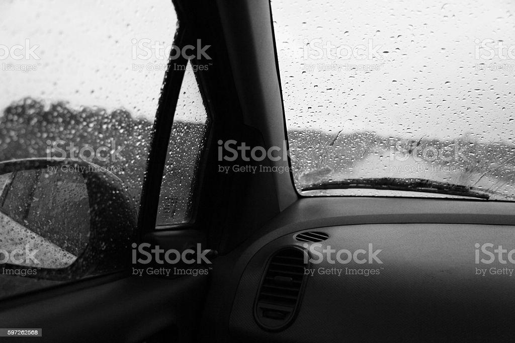 Monsoon Looking Through An Window stock photo