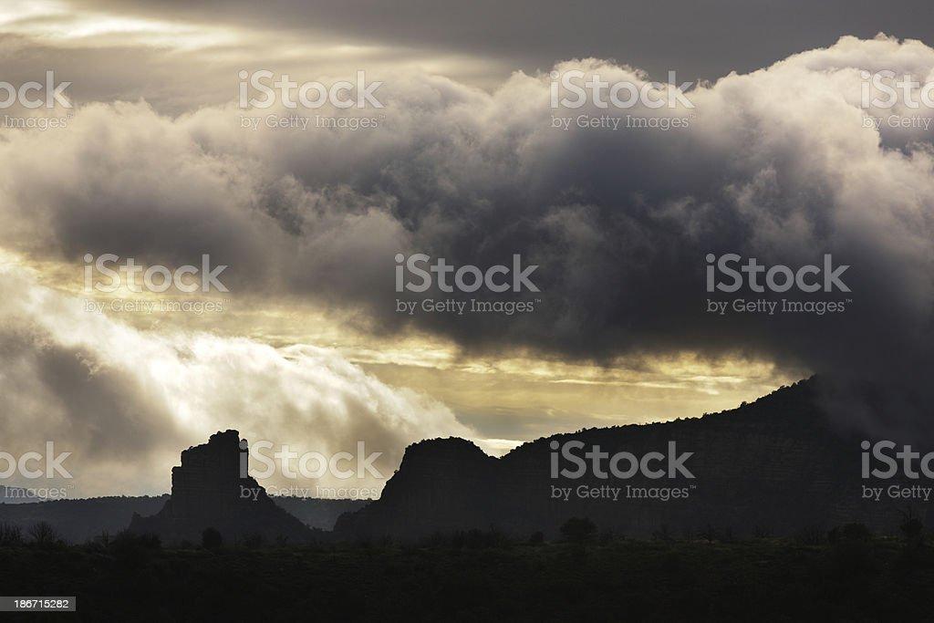 Monsoon Microburst Storm Cloud Landscape royalty-free stock photo