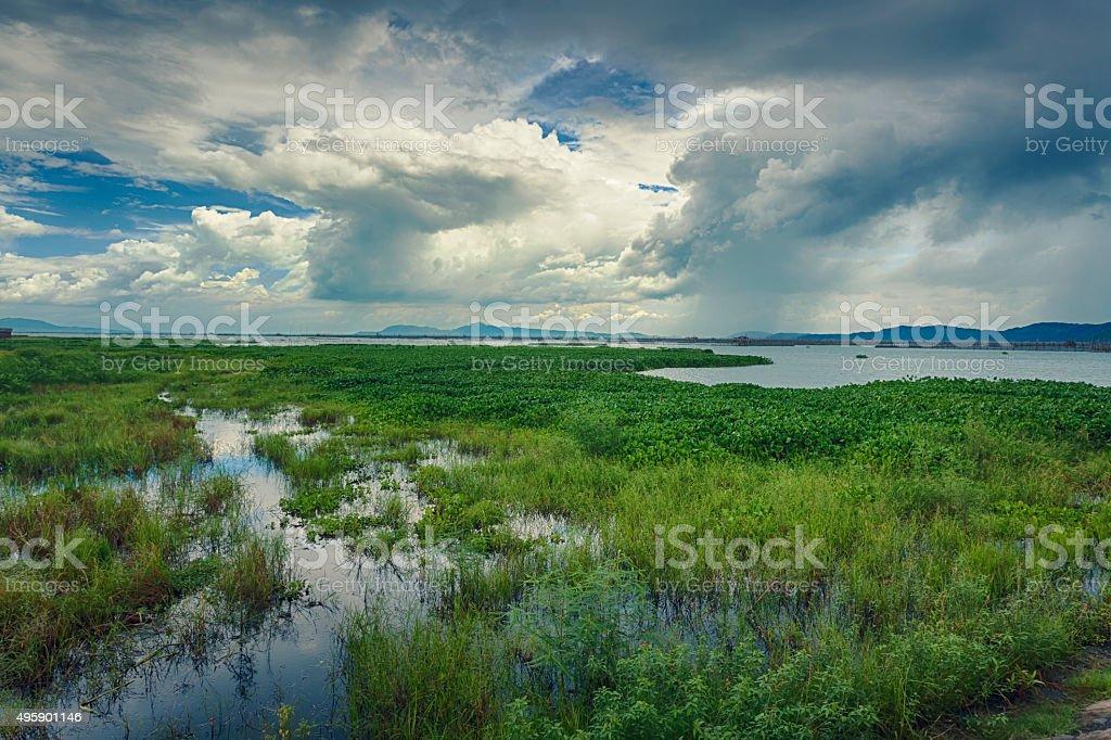 Monsoon rain clouds stock photo