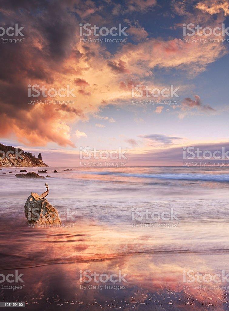 Monsoon Seascape stock photo
