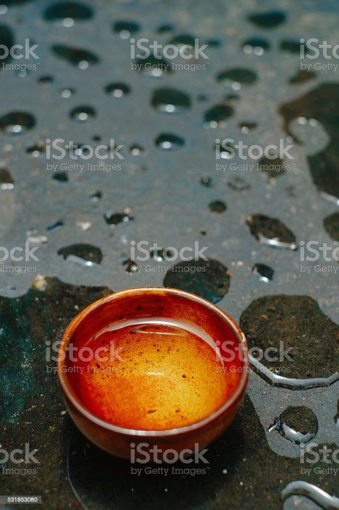 Monsoon tea stock photo