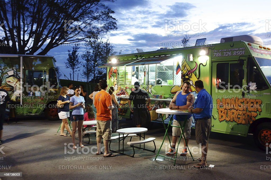 Monster Burger Food Truck royalty-free stock photo