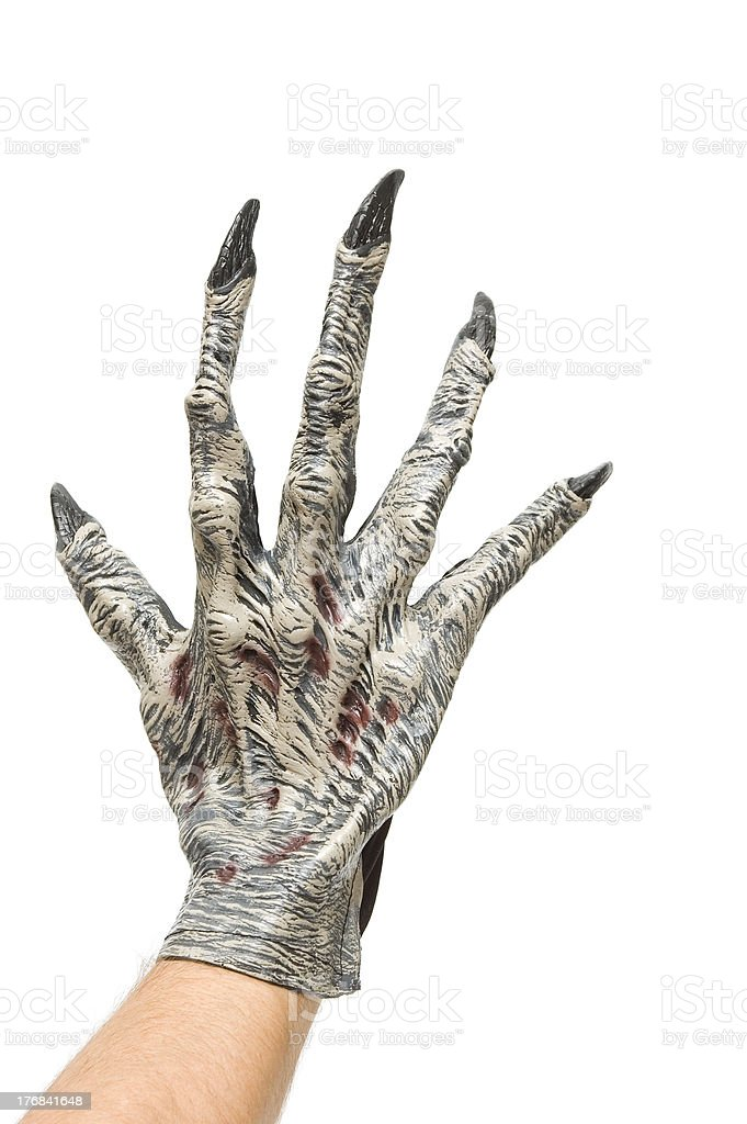 Monster claw stock photo