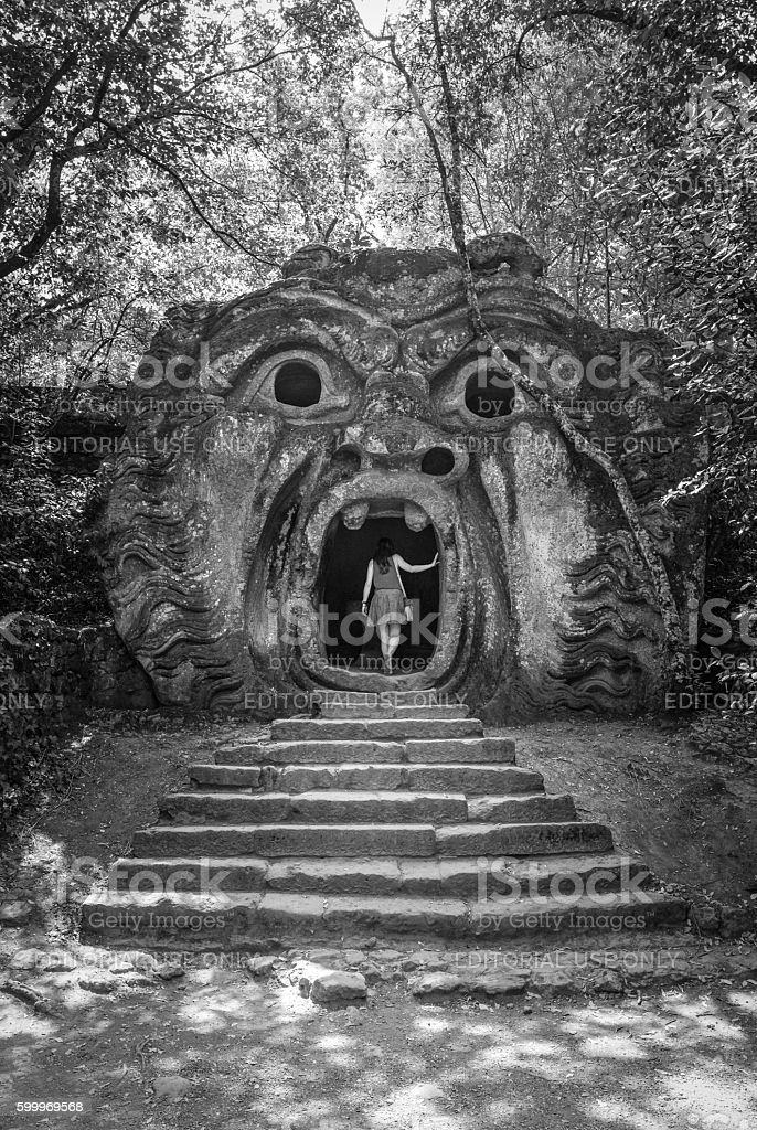 Monster Park of Bomarzo, Italy stock photo