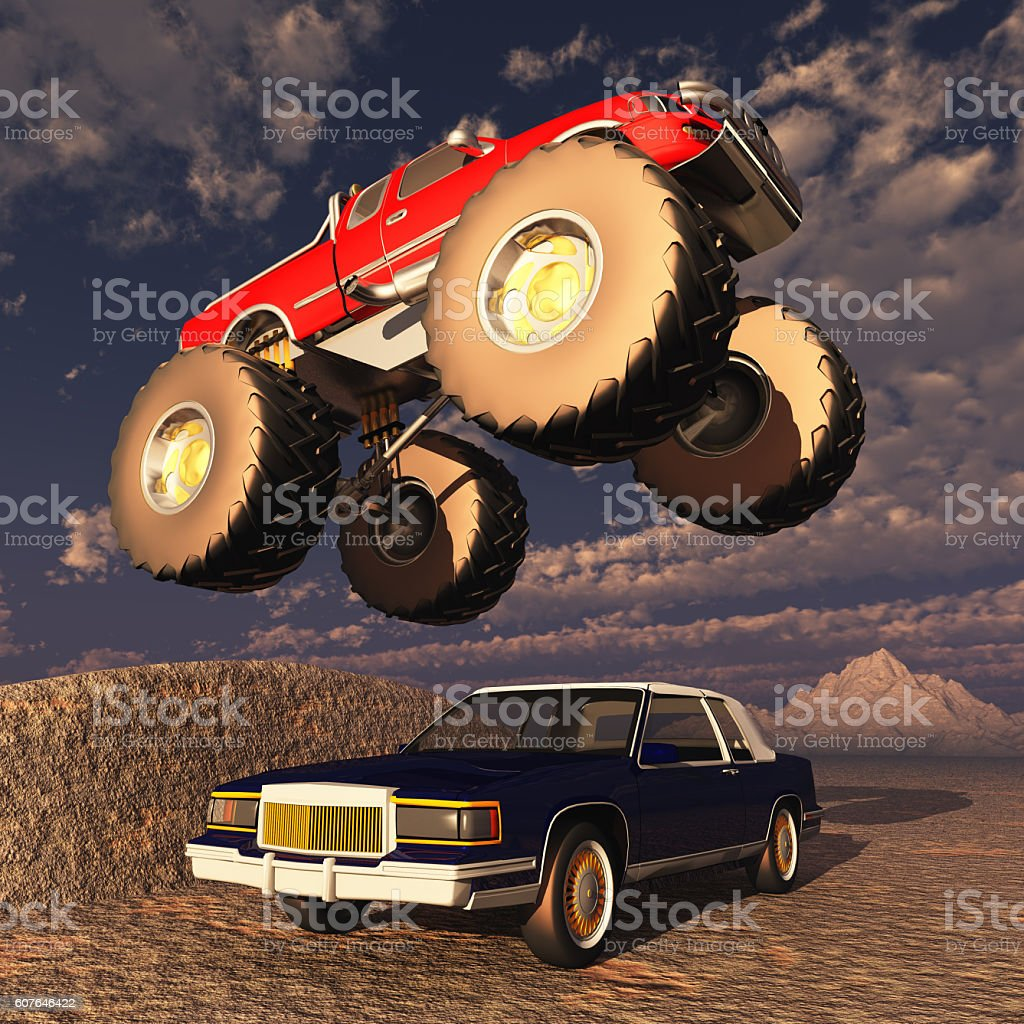 Monster truck stock photo