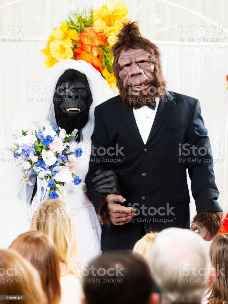 Monster Wedding stock photo