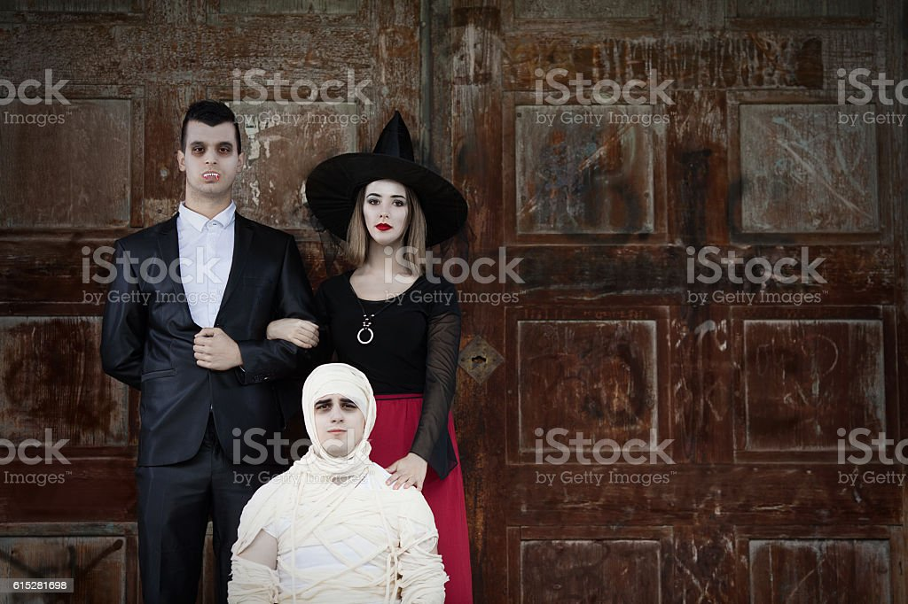 Monsters Family Portrait stock photo