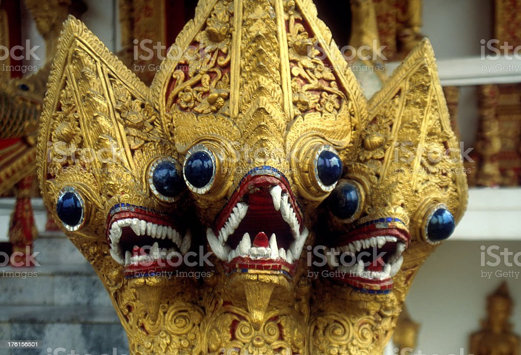 Monsters Guarding Thai Temple stock photo