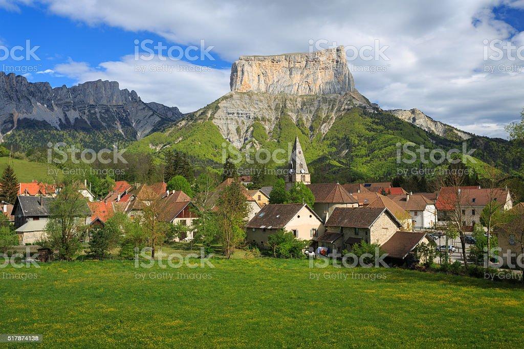 Mont Aiguille stock photo