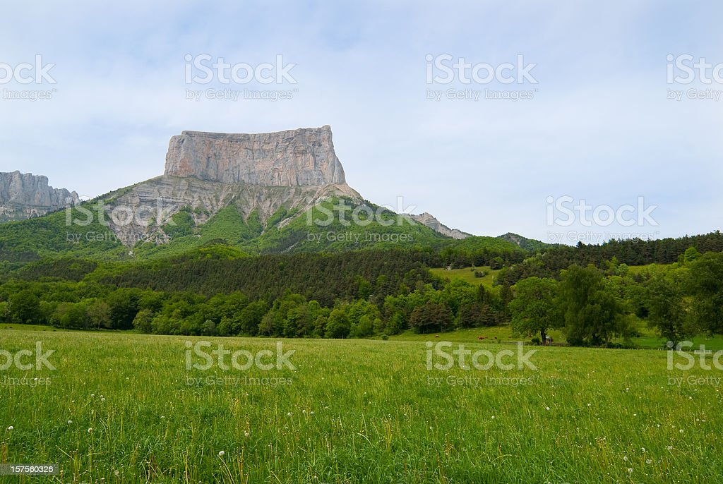 Mont Aiguille surrounded by beautiful nature royalty-free stock photo