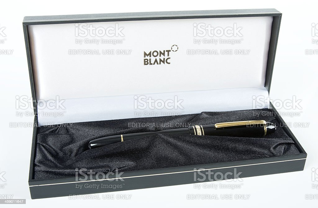 Mont Blaanc Fountain Pen royalty-free stock photo
