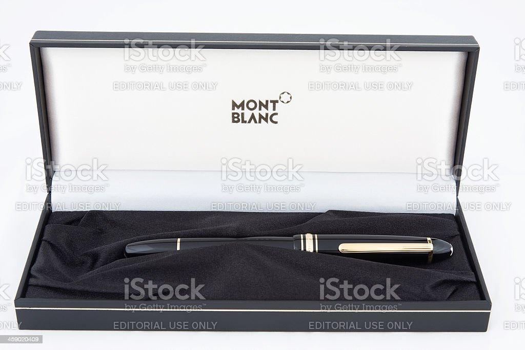 Mont Blaanc Fountain Pen royalty-free stock photo