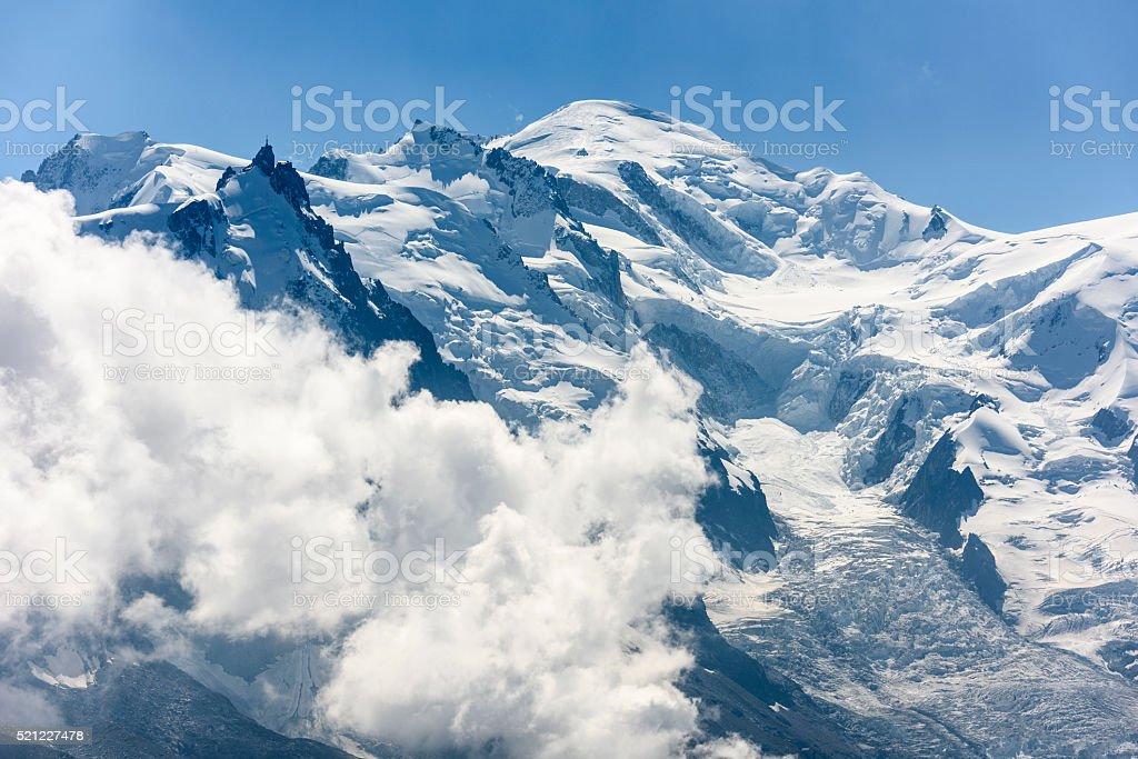 Mont Blanc, Aiguille du Midi stock photo