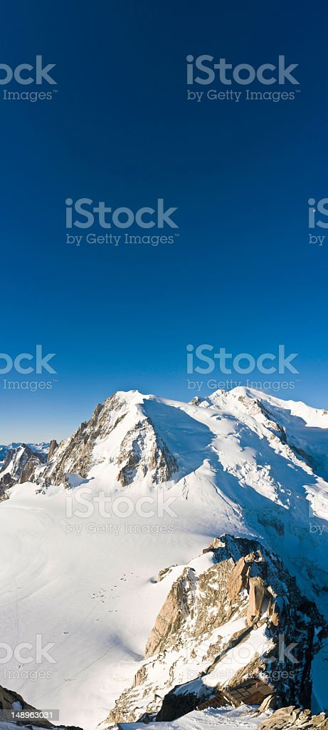 Mont Blanc blue moon stratosphere royalty-free stock photo