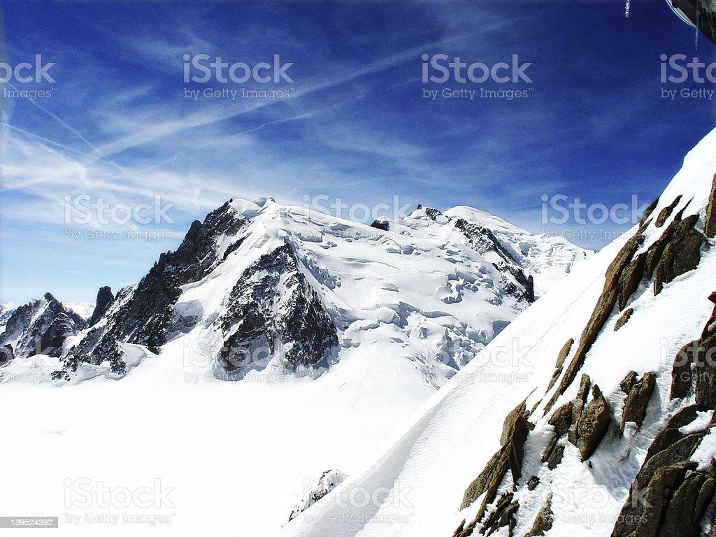 Mont Blanc - Chamonix France royalty-free stock photo