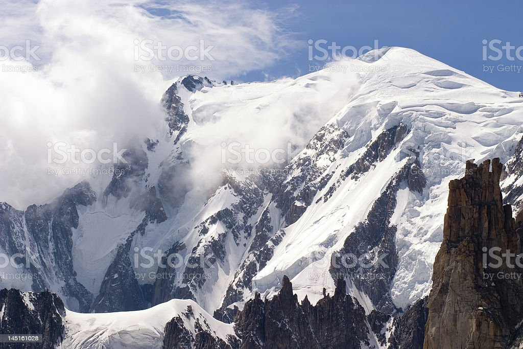 Mont Blanc - Chamonix, France royalty-free stock photo