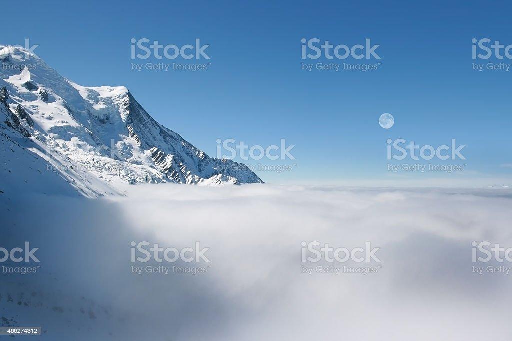 Mont Blanc, Chamonix stock photo