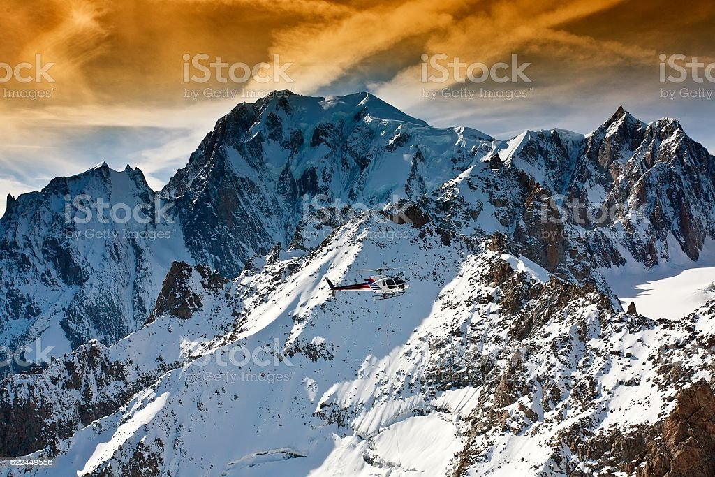 Mont Blanc, Courmayeur, Italy stock photo