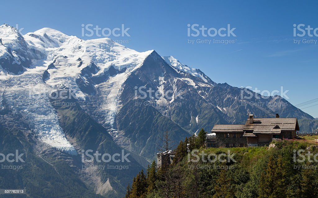 Mont blanc from Brevent stock photo