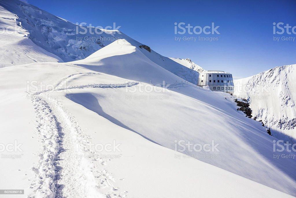 Mont Blanc Hiking Trail stock photo