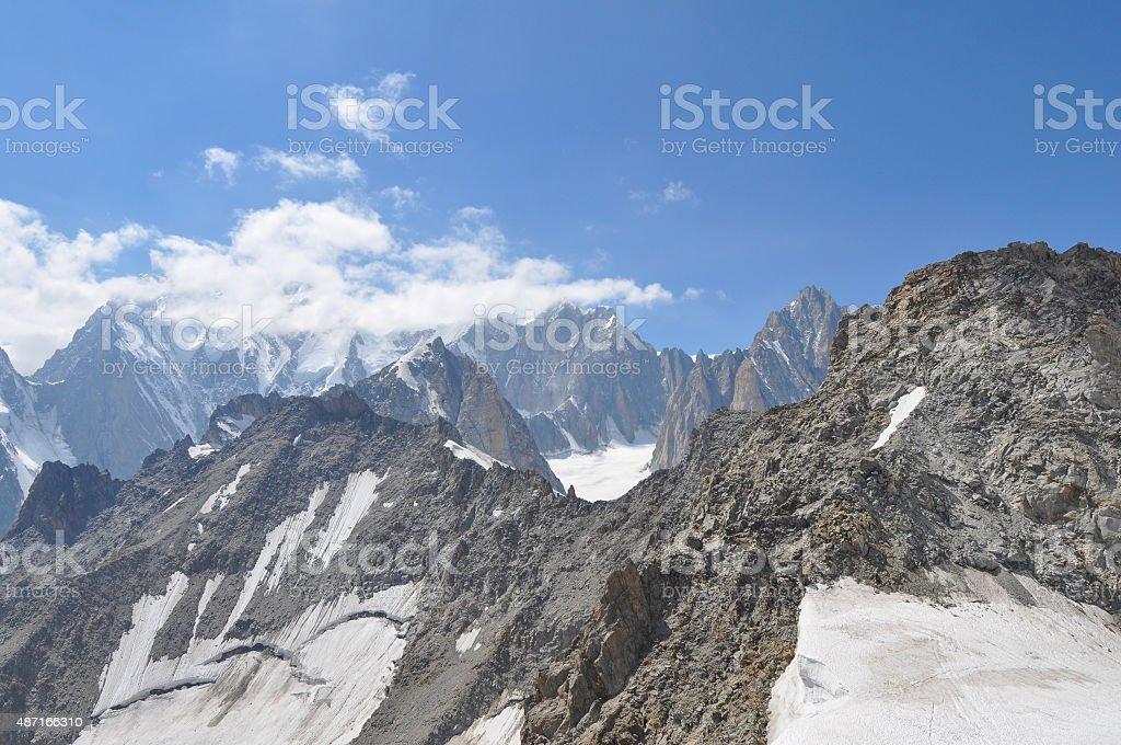 Mont Blanc in Aosta Valley stock photo