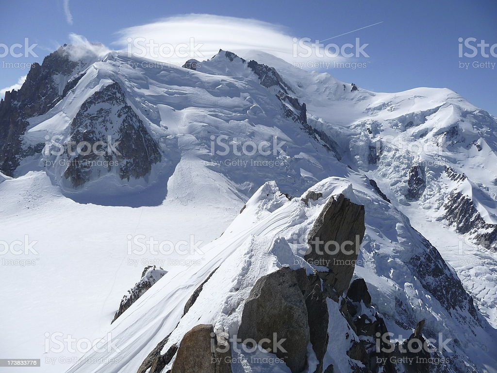 Mont Blanc in France stock photo