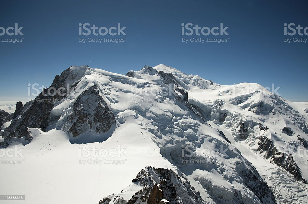 Mont Blanc in perfect Blue stock photo