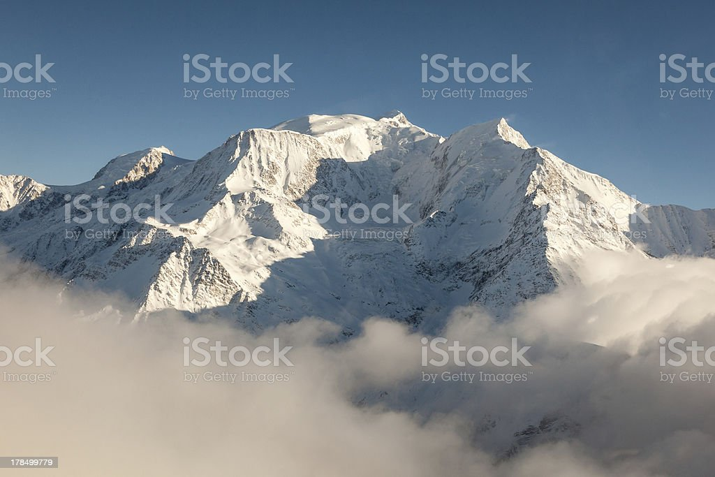 Mont Blanc in Winter stock photo