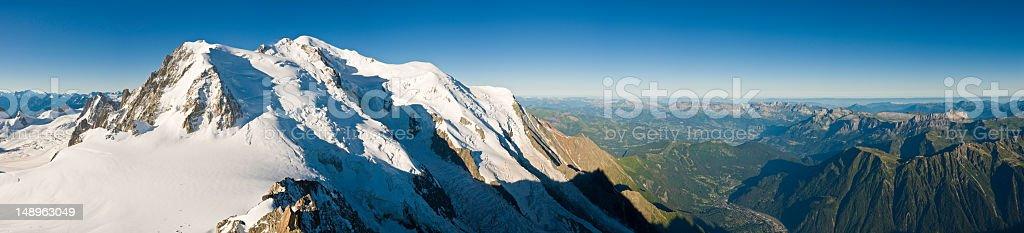 Mont Blanc Jura Alps panoramic vista royalty-free stock photo